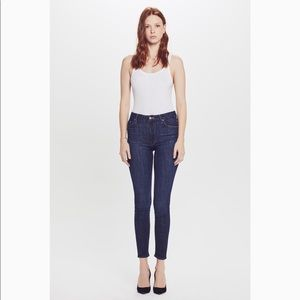 👖MOTHER high-rise petite skinny jeans